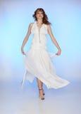 Meisje in witte kleding Royalty-vrije Stock Afbeeldingen