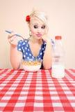 Meisje zonder eetlust Stock Afbeeldingen