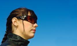 Meisje in zonnebril Royalty-vrije Stock Foto's