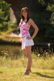 Meisje in zonneschijn Royalty-vrije Stock Fotografie
