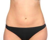Meisje in zwart zwempak Royalty-vrije Stock Foto