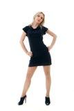 Meisje in zwarte kleding Stock Afbeeldingen