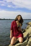 Meisje in zwempak Royalty-vrije Stock Afbeelding