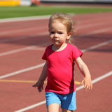 Meisjekind bij het stadion Royalty-vrije Stock Fotografie