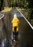 Meisjerit op fiets Royalty-vrije Stock Fotografie