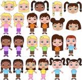 Meisjes royalty-vrije illustratie