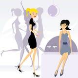 Meisjes 2 van de partij Royalty-vrije Stock Afbeelding