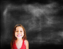 Meisjes Aanbiddelijk Mooi Vrolijk het Glimlachen Concept Royalty-vrije Stock Afbeeldingen