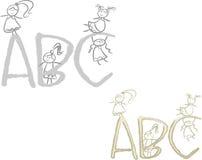 Meisjes ABC Stock Afbeelding