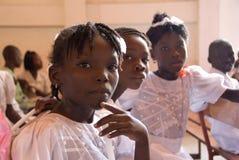 Meisjes bij Bevestiging Stock Afbeeldingen