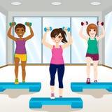 Meisjes bij Gymnastiek vector illustratie
