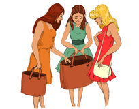 Meisjes bij het winkelen Royalty-vrije Stock Fotografie