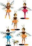 Meisjes in bijenkostuums stock illustratie