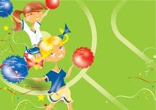 Meisjes cheerleader vector illustratie