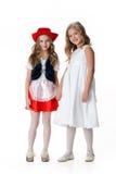 Meisjes in de Kleding van de Maskerade royalty-vrije stock foto