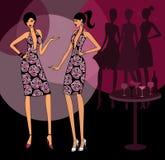 Meisjes die de Zelfde Kleding dragen royalty-vrije illustratie