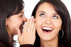 Meisjes die geheimen vertellen Stock Afbeeldingen