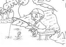 Meisjes die springtouwbeeldverhaal spelen stock illustratie