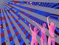 Meisjes die van een partij genieten vector illustratie