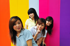Meisjes en Vriendschap Stock Afbeeldingen
