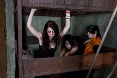 Meisjes goth stock fotografie