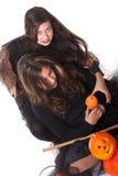 Meisjes in Halloween kostuum Royalty-vrije Stock Foto's