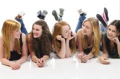Meisjes het babbelen Royalty-vrije Stock Foto