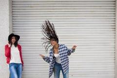 Meisjes het dansen Stock Foto