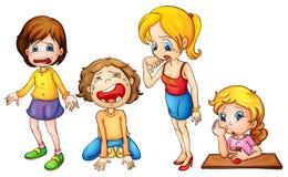 Meisjes het schreeuwen stock illustratie