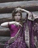 Meisjes Indisch kostuum Royalty-vrije Stock Fotografie