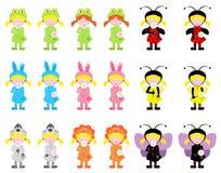 Meisjes in kostuums Royalty-vrije Stock Afbeelding