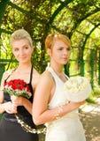 Meisjes met bloemen Royalty-vrije Stock Foto