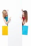 Meisjes met het winkelen Royalty-vrije Stock Foto's