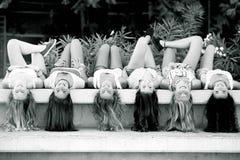 Meisjes met lang haar royalty-vrije stock afbeeldingen