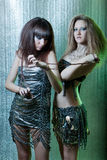 Meisjes met metaalbelemmeringen Stock Foto's