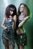 Meisjes met metaalbelemmeringen Royalty-vrije Stock Foto's