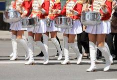 Meisjes met trommels Royalty-vrije Stock Foto's