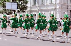 Meisjes met trommels Royalty-vrije Stock Afbeelding