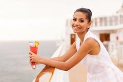 Meisjes ontspannende cruise Royalty-vrije Stock Fotografie