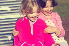 Meisjes op dia Stock Foto