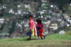 Meisjes in Quito Stock Foto
