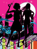 meisjes silhouetten stock illustratie