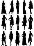 meisjes silhouetten Royalty-vrije Stock Foto