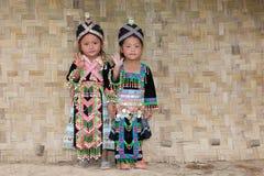 Meisjes van Azië Hmong royalty-vrije stock foto