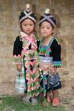 Meisjes van Azië Hmong royalty-vrije stock afbeelding
