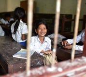 Meisjes van Khmer Dorp Royalty-vrije Stock Afbeeldingen