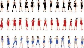 Meisjes. Vector. deel 2 Stock Foto's