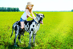 Meisjescowboy Stock Foto's