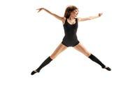Meisjesdanser het springen Royalty-vrije Stock Foto's