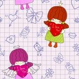 Meisjesengel Royalty-vrije Illustratie